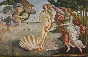 La Nascita di Venere, Sandro Botticelli, Firenze, Uffizi